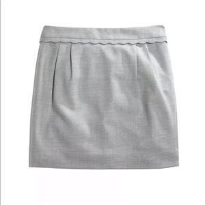 J. Crew Scallop Wool Skirt